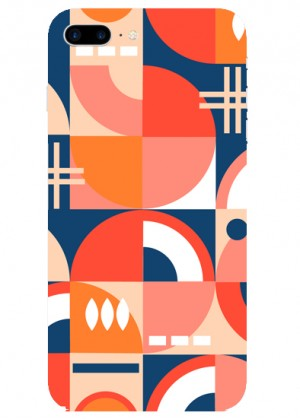 Geometrik Kare Desenli Telefon Kılıfı