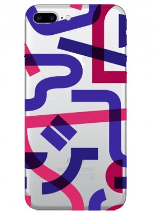 Geometrik Pembe Çizgiler Telefon Kılıfı