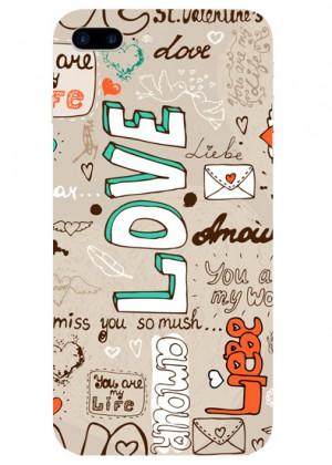 Love Yazılı Telefon Kılıfı