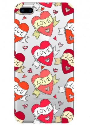 Retro Kalp Desenli Telefon Kılıfı
