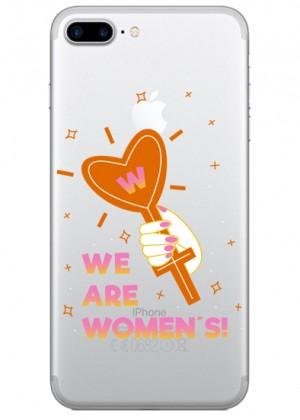Biz Kadınız Yazılı Telefon Kılıfı