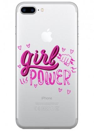 Girl Power Pembe Yazılı Telefon Kılıfı