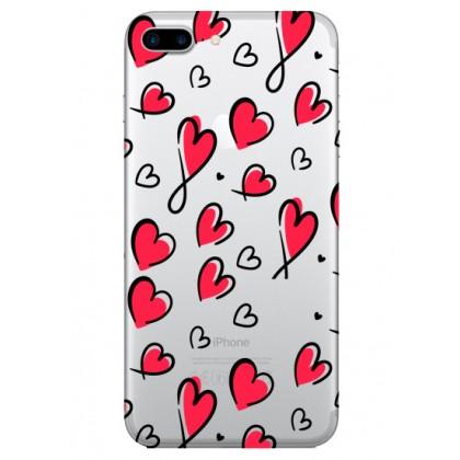 Kırmızı Kalpler Telefon Kılıfı
