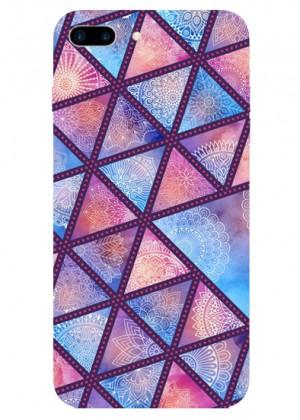 Mor Renkli Geometrik Telefon Kılıfı