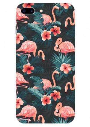 Çiçek Desenli Flamingo Telefon Kılıfı