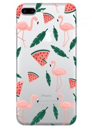 Yaprak Desenli Flamingo Telefon Kılıfı