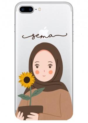 Ayçiçeği ve Sevimli Kız Karakterli Telefon Kılıfı