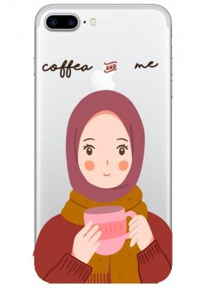 Kahve Sever Kız Karakterli Telefon Kılıfı