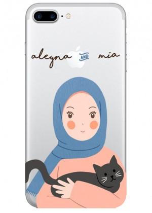 Kedi ve Sahibi Karakterli Telefon Kılıfı