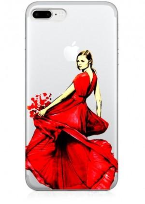 Kırmızılı Kadın Telefon Kılıfı