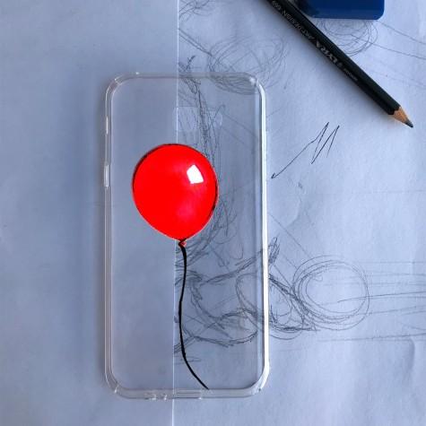 Kırmızı Balon Telefon Kılıfı