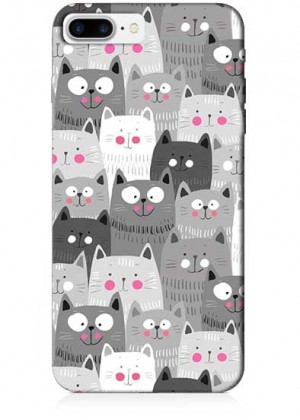 Siyah Beyaz Kediler Telefon Kılıfı