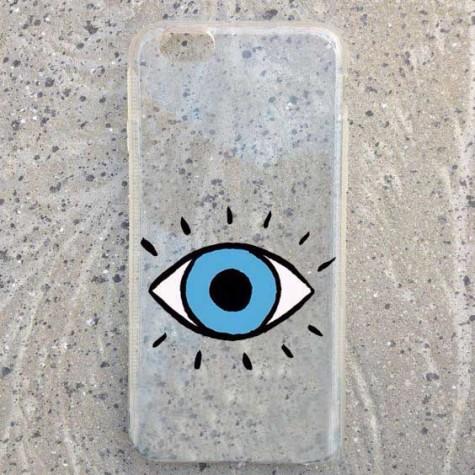 Mavi Tek Göz Telefon Kılıfı