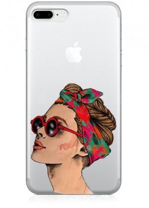 Gözlüklü Kadın Telefon Kılıfı