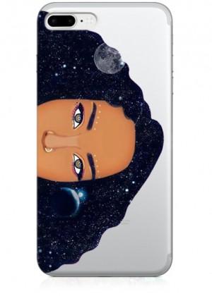 Siyah Saçlı Kadın Telefon Kılıfı