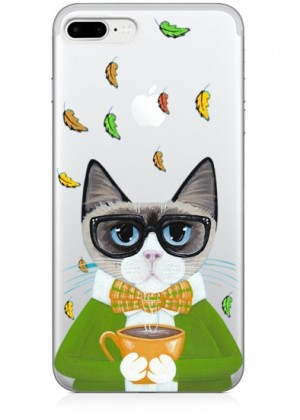 Gözlüklü Kedi Telefon Kılıfı