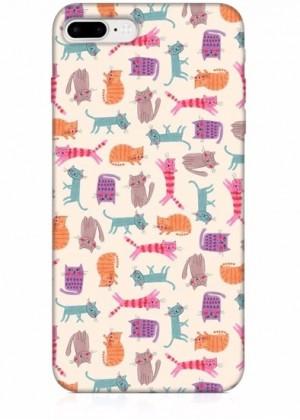 Kedi Desenli Renkli Telefon Kılıfı