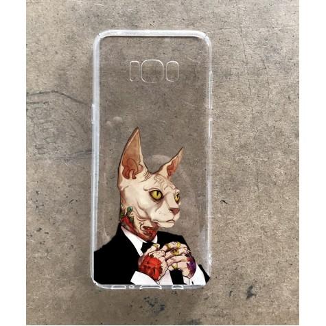 Dövmeli Kedi Telefon Kılıfı