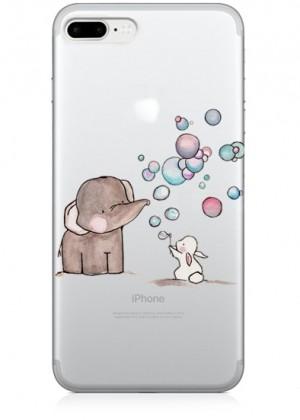 Fil ve Baloncuk Temalı Telefon Kılıfı