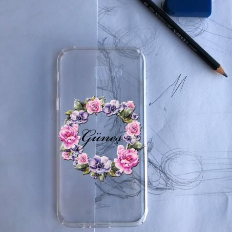 çiçek tacı telefon kılıfı