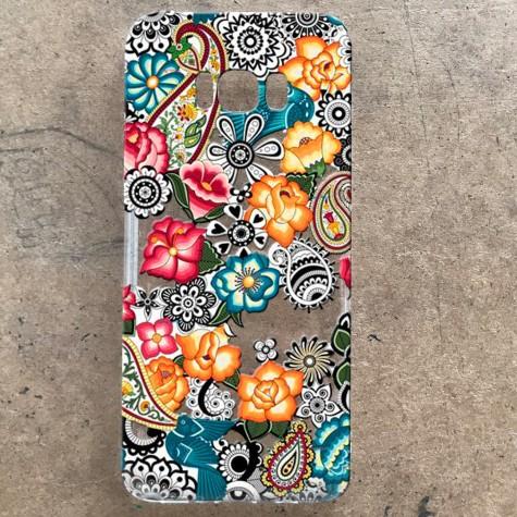 Çiçek Desenli Telefon Kılıfı