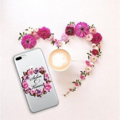 Çiçekli İsme Özel Telefon Kılıfı