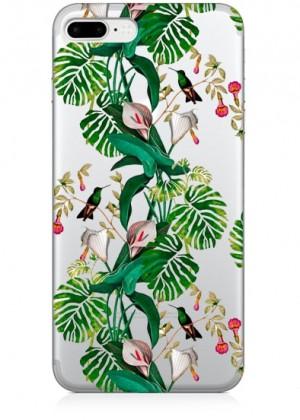 Tropikal Çiçek Desenli Telefon Kılıfı