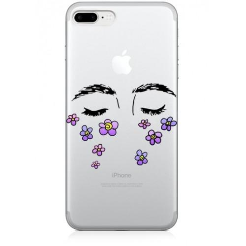 çiçekli gözler telefon kılıfı
