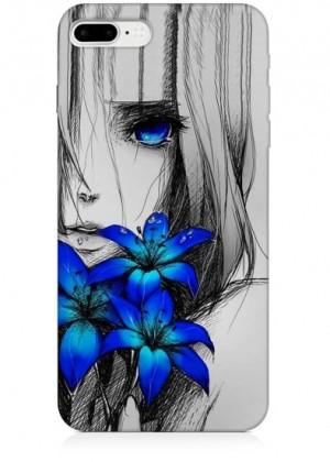 Mavi Çiçekli Telefon Kılıfı