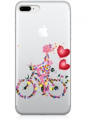 Çiçekli Bisiklet Telefon Kılıfı
