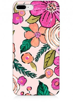 Pembe Çiçekli Telefon Kılıfı