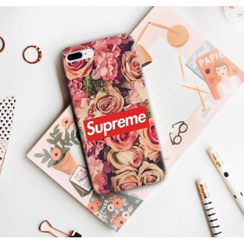 Gül Desenli Supreme Telefon Kılıfı