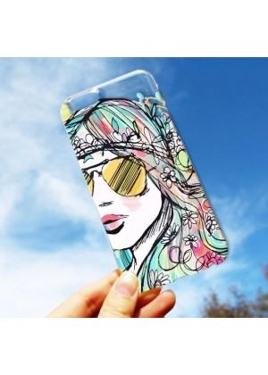 Hippi Kız Tasarımlı Telefon Kılıfı