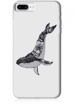 Siyah Beyaz Balina Telefon Kılıfı