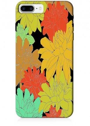 Renkli Çiçek Çizimli Telefon Kılıfı