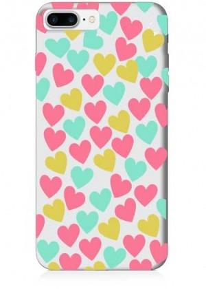Renkli Kalpler Telefon Kılıfı