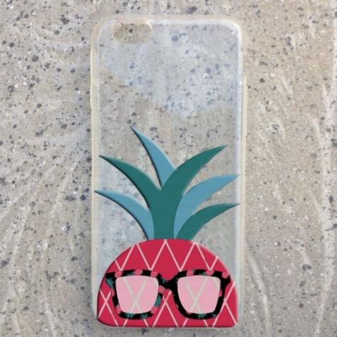 ananas desenli telefon kılıfı