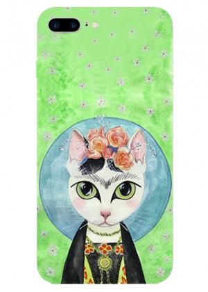 Kedili Frida Kahlo Telefon Kılıfı