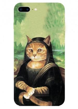 Kedili Mona Lisa Telefon Kılıfı