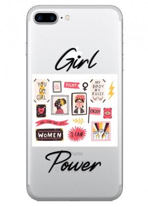 Çerçeveli Girl Power Telefon Kılıfı