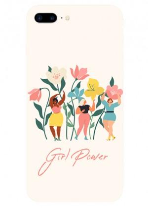 Çiçek Desenli Girl Power Telefın Kılıfı