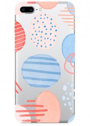 Çizgili Daire Desenli Telefon Kılıfı