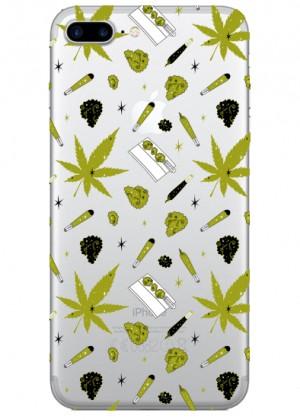 Marijuana Desenli Telefon Kılıfı