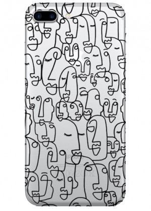 Yüz Desenli Telefon Kılıfı