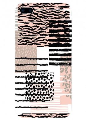 Karma Leopar ve Zebra Desenli Telefon Kılıfı
