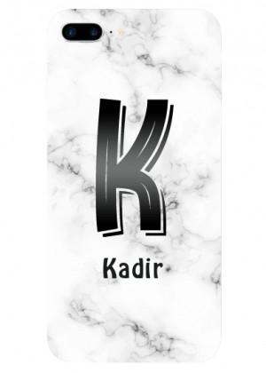K Harfli Mermer Desenli Telefon Kılıfı