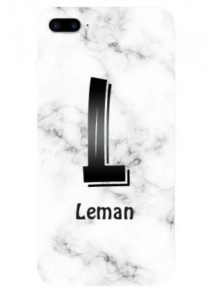 L Harfli Mermer Desenli Telefon Kılıfı