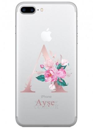 A Harfli Çiçekli Telefon Kılıfı