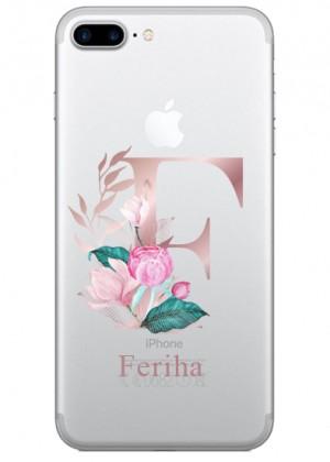 F Harfli Çiçekli Telefon Kılıfı