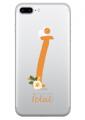 İ Harfi Çiçek Desenli Telefon Kılıfı